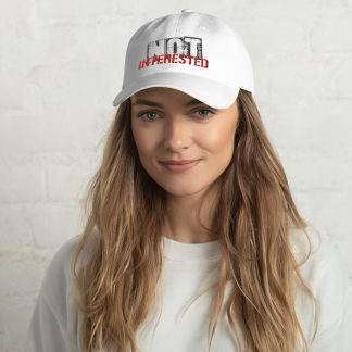 Not Interested Embroidered Cap
